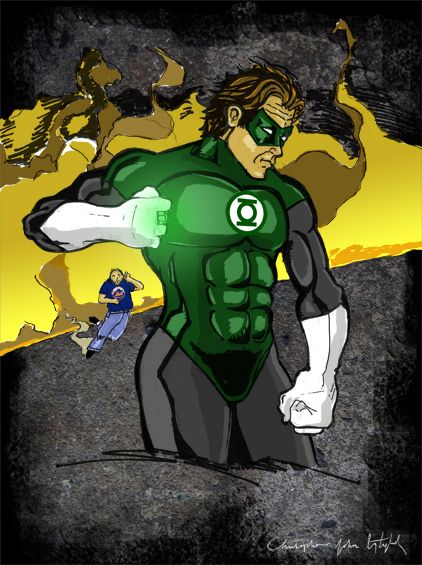 Green Lantern and James Hannon