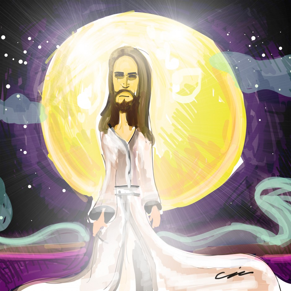 Jesus Christ illustration by Christopher John Sztybel