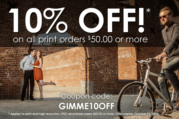 10% OFF Print Orders! Expires 10/21/2012