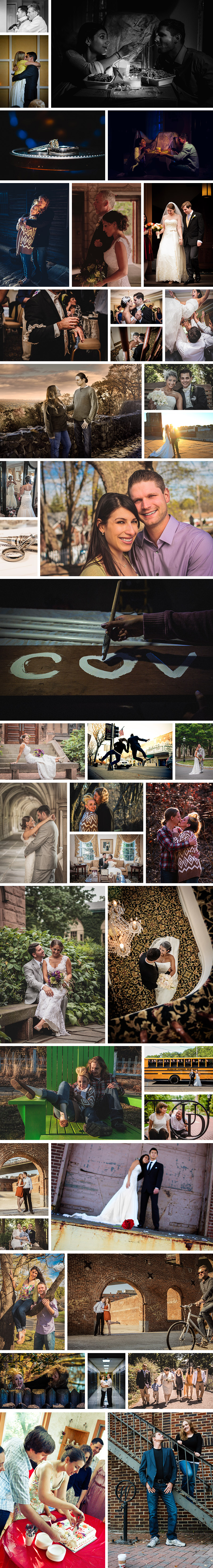 Sztybel wedding photograph collage