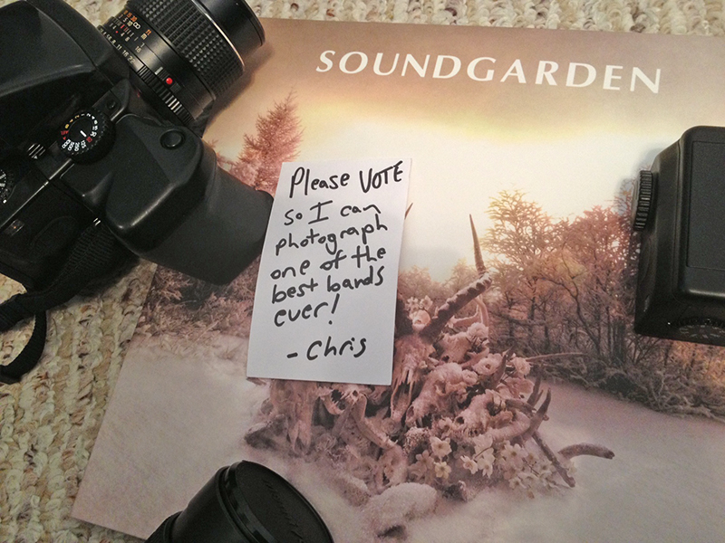 VOTE for Christopher John Sztybel to photograph Soundgarden