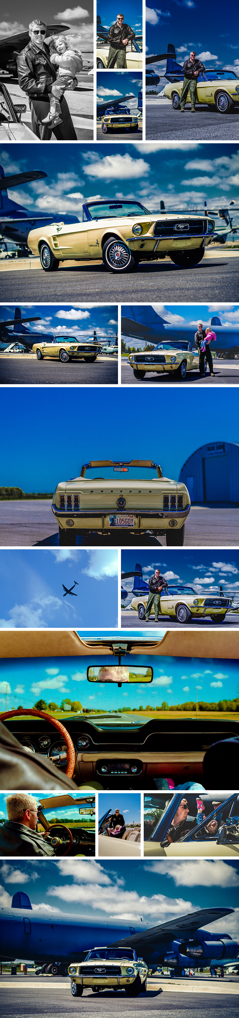 Ford Mustang shoot with Captain Brian Trumble at Dover Air Force base and museum