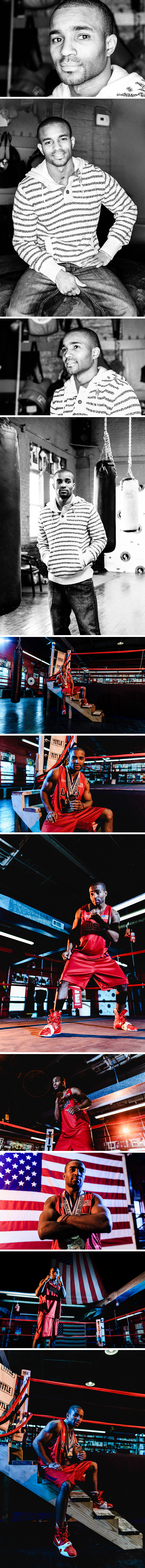 Olympic Boxer Leroy Davila Portrait Session