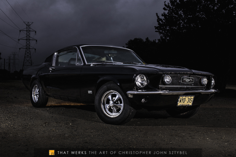 Andrea Hoch and the 1968 Ford Mustang GT fastback