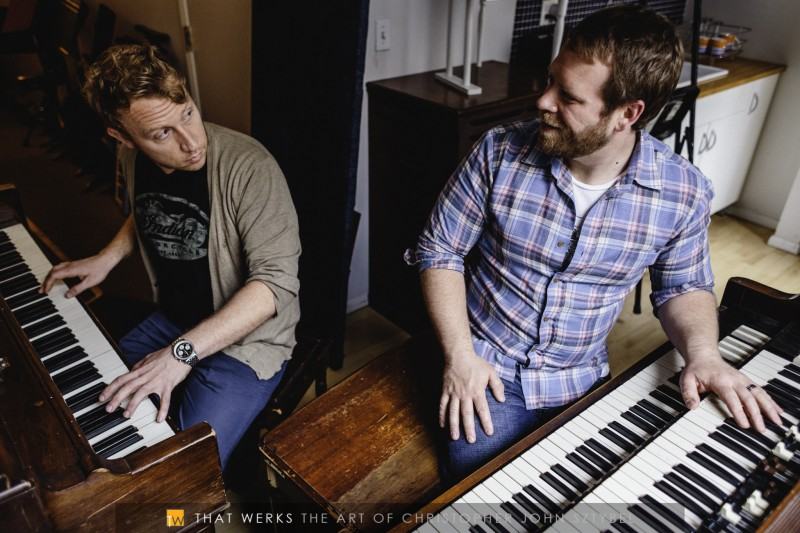John White (left) and Rich DeCicco (right) tickling the ivories