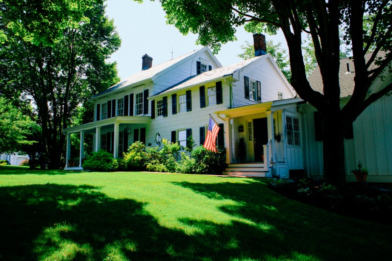 Promotional photos taken of the landscape and decor of the Warwick, New York bed and breakfast