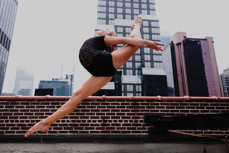 NYCDA on the rooftop of the Times Square Capezio flagship store