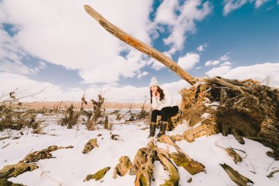 Cleri Models' Mia in the beautiful aftermath of Nor'easter Stella