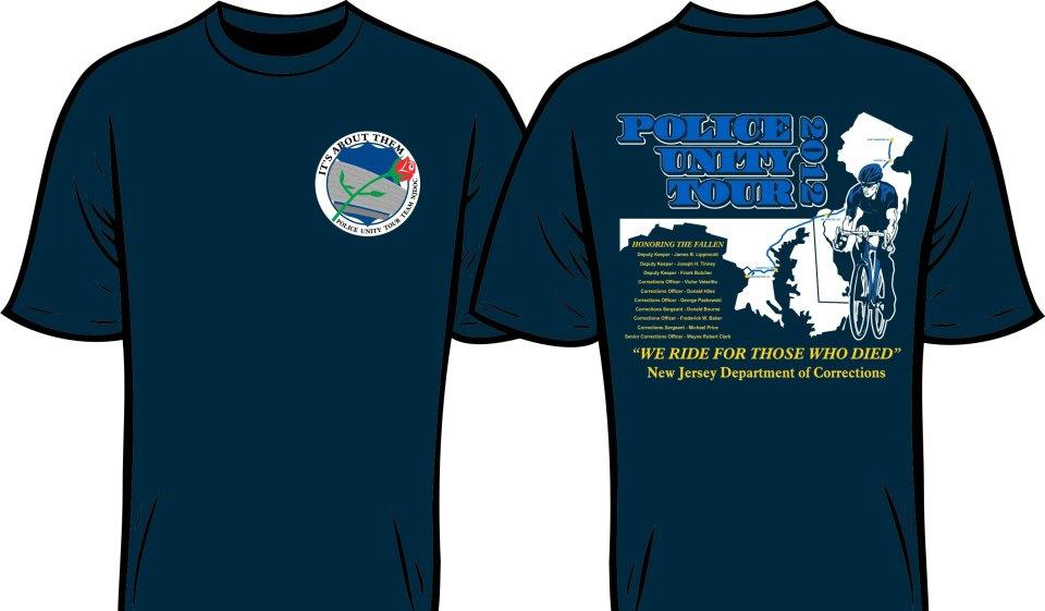 ORDER NOW! Police Unity Tour t-shirt front and back