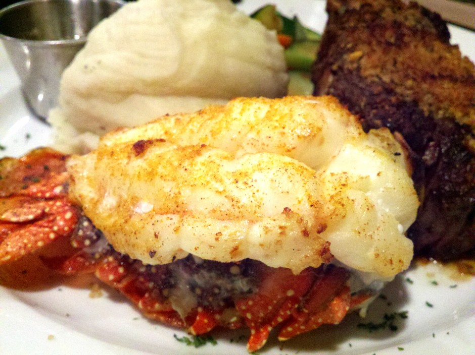 Close shot of the lobster tail