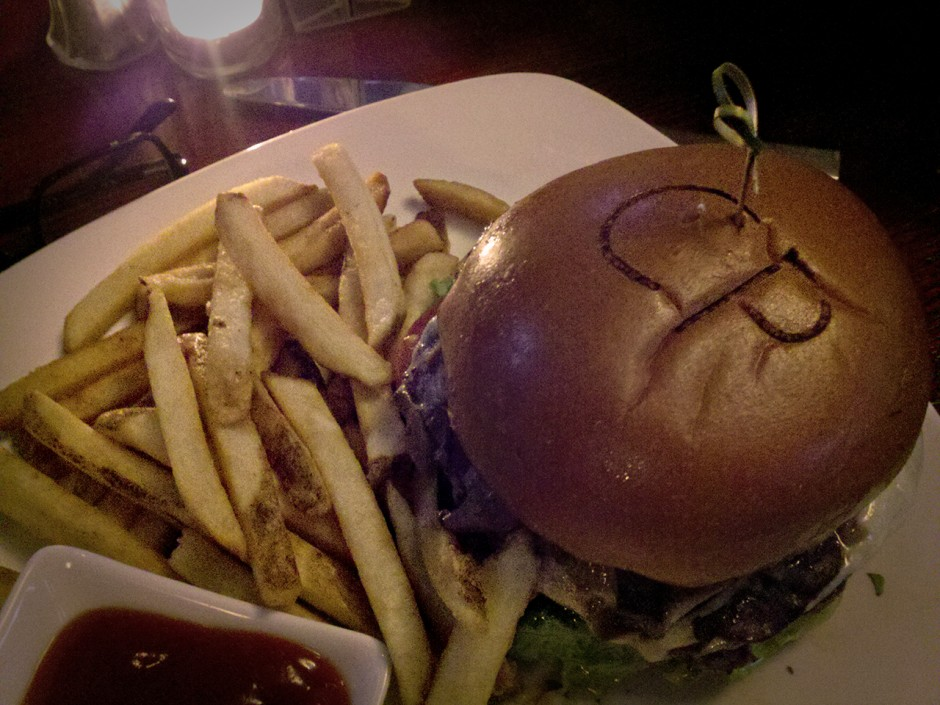 Central Park cheeseburger with loads of mushrooms...MMMMMM!