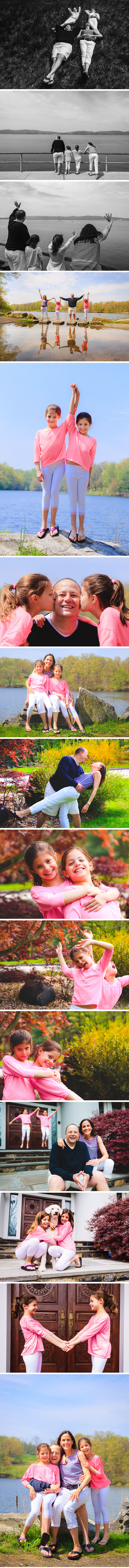 Robinson family photos in Briarcliff Manor and Rockefeller State Park in New York