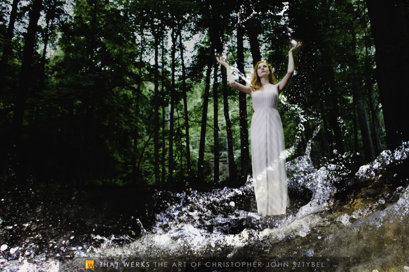 Goddess of Water shoot with Kelly Larsen at Watchung Reservation