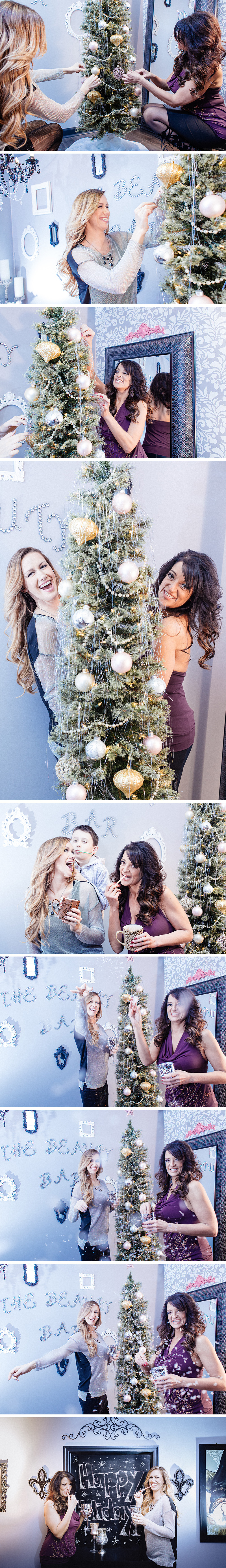 Holiday photos with Elyse and Kelly at The Beauty Bar in Middlesex, NJ