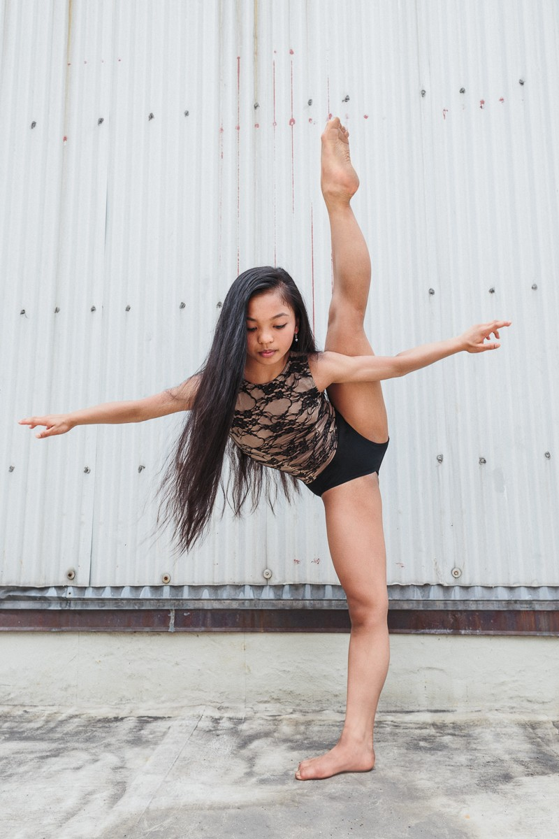 Jasmine Cruz of NYCDA on the rooftop of the Times Square Capezio flagship store