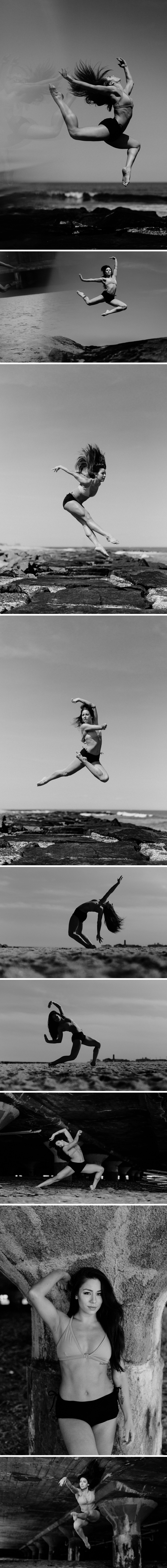 Dancer Andrea Hoch in Asbury Park, New Jersey