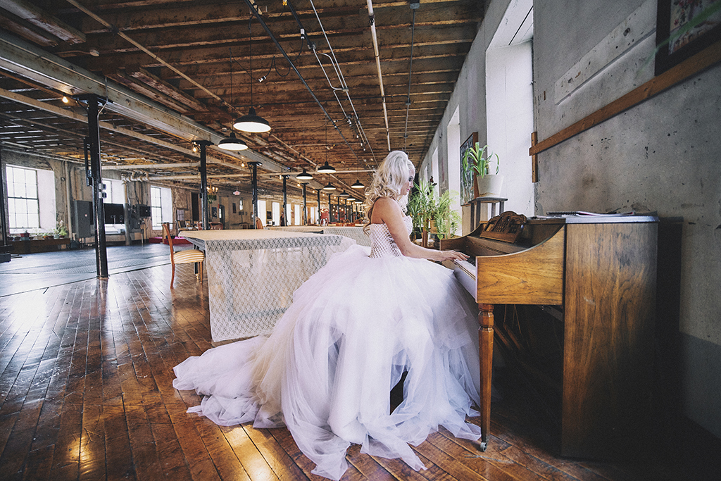 Wedding photographer at Art Factory in Paterson, New Jersey